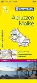 Michelin Karte Abruzzen, Molise; Abruzzo, Molise