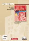 Fokus Mathematik, Gymnasium Rheinland-Pfalz: 6. Schuljahr, Arbeitsheft, m. CD-ROM