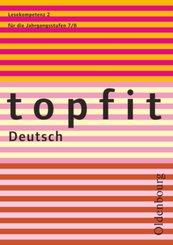 Topfit Deutsch - 7./8. Jahrgangsstufe - H.2