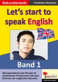Let's start to speak English