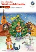 Die schönsten Weihnachtslieder, Notenausg. m. Audio-CDs: Für 1-2 Gitarren, m. Audio-CD