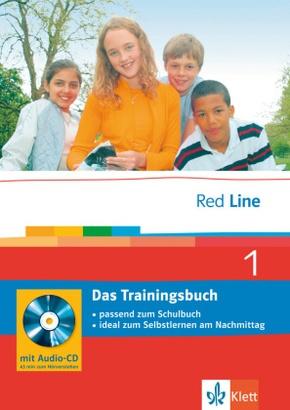 Red Line: Klasse 5, Das Trainingsbuch m. Audio-CD; Bd.1
