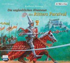 Die unglaublichen Abenteuer des Ritters Parzival, 2 Audio-CDs