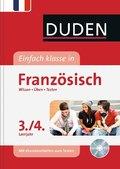 Duden Einfach klasse in Französisch, 3./4. Lernjahr, m. Audio-CD