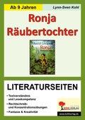 Astrid Lindgren 'Ronja Räubertochter', Literaturseiten