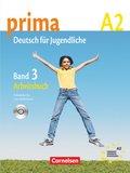 Prima - Deutsch für Jugendliche/junge Erwachsene: Arbeitsbuch, m. Audio-CD; Bd.3