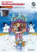 Die schönsten Weihnachtslieder, Notenausg. m. Audio-CDs: Für Akkordeon, m. Audio-CD