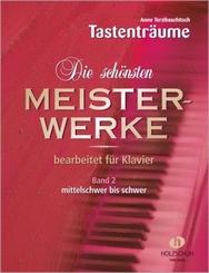 Die schönsten Meisterwerke, für Klavier - Bd.2