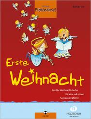 Jede Menge Flötentöne!, Erste Weihnacht, für 1-2 Sopranblockflöten, m. Audio-CD