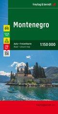 Freytag & Berndt Auto + Freizeitkarte Montenegro; Crna Gora