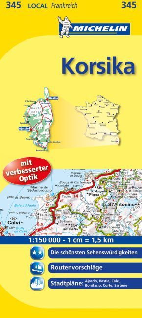 Michelin Karte Korsika; Corse-du-Sud, Haute-Corse