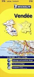Michelin Karte Vendee; Loire-Atlantique, Vendee