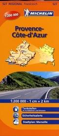 Michelin Karten: Provence, Côte d' Azur; Provence-Alpes, Côtes d' Azur; Bl.527