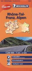 Michelin Karte Rhone-Tal, Franz. Alpen; Rhone-Alpes
