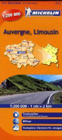 Michelin Karte Auvergne, Limousin