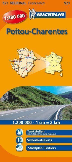 Michelin Karte Poitou, Charentes