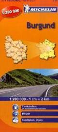 Michelin Karte Burgund; Bourgogne