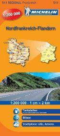Michelin Karte Nordfrankreich, Flandern; Nord-Pas-de-Calais, Picardie