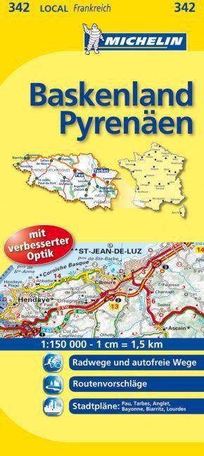 Michelin Karte Baskenland, Pyrenäen; Hautes-Pyrenees, Pyrennees-Atlantiques