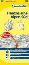 Michelin Karten: Französische Alpen Süd; Alpes-de-Haute-Provence, Hautes-Alpes; Bl.334