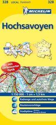Michelin Karten: Hochsavoyen; Ain, Haute-Savoie; Bl.328