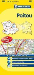 Michelin Karte Poitou; Deux-Sevres, Vienne