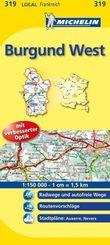 Michelin Karte Burgund West; Nièvre, Yonne