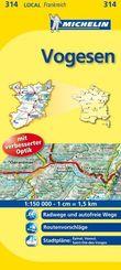 Michelin Karte Vogesen; Haute-Saone, Vosges