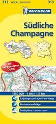 Michelin Karte Südliche Champagne; Aube, Haute-Marne