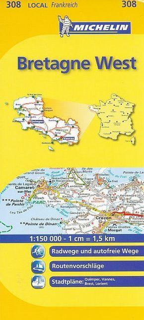 Michelin Karte Bretagne West