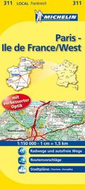 Michelin Karte Paris, Ile-de-France/West; Eure-et-Loir, Paris, Yvelines