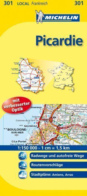 Michelin Karte Picardie; Pas-de-Calais, Somme