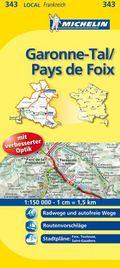 Michelin Karte Garonne-Tal, Pays de Foix; Ariège, Haute-Garonne