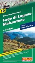 Hallwag Outdoor Map Lugano, Malcantone