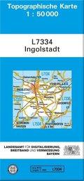 Topographische Karte Bayern Ingolstadt