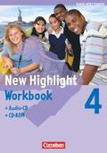 New Highlight, Hauptschule Baden-Württemberg: 8. Schuljahr, Workbook m. Audio-CD u. CD-ROM; Bd.4
