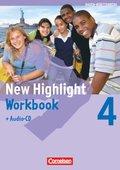 New Highlight, Hauptschule Baden-Württemberg: 8. Schuljahr, Workbook m. Audio-CD; Bd.4