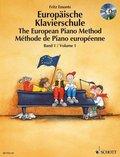 Europäische Klavierschule, Deutsch-Englisch-Französisch, m. Audio-CD - The European Piano Method - Méthode de Piano européenne - Bd.1