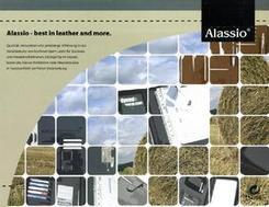 ALASSIO Schreibmappe A4, Nappaleder, schwarz