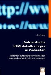 Automatische HTML-Inhaltsanalyse in Webseiten (eBook, PDF)