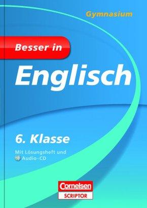 Besser in Englisch, Gymnasium: 6. Klasse, m. Audio-CD