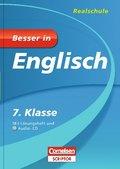 Besser in Englisch, Realschule; 7. Klasse, m. Audio-CD