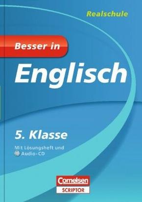 Besser in Englisch, Realschule: 5. Klasse, m. Audio-CD