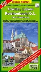 Doktor Barthel Karte Görlitz, Löbau, Reichenbach/O.L. und Umgebung
