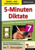 5-Minuten-Diktate zum gezielten Rechtschreibtraining, 7. Schuljahr