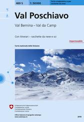 Landeskarte der Schweiz Val Poschiavo, Carta scialpinistica