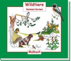 Wildtiere kennen lernen, Malbuch