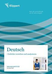 Deutsch, Gedichte verstehen und analysieren, Schülerheft