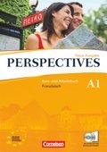 Perspectives, Neue Ausgabe: Kurs- und Arbeitsbuch, m. Wortschatztrainer u. 2 Audio-CDs; Bd.A1