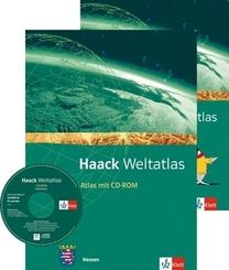 Haack Weltatlas für Hessen, m. CD-ROM u. Arbeitsheft Kartenlesen